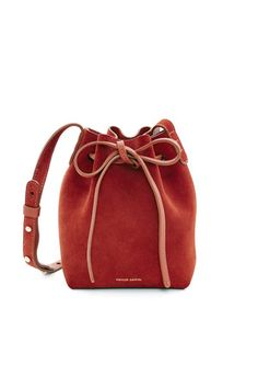 MANSUR GAVRIEL OPENING CEREMONY MINI MINI SUEDE BUCKET BAG. #mansurgavriel #bags #shoulder bags #bucket #suede #