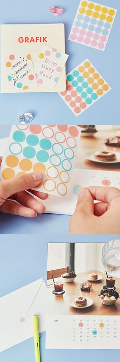 The most simple and surest way to decorate planners, notebooks and anything! The eye-catching color and transparent material makes Dot Deco Sticker Set v2 a great way to highlight important things!