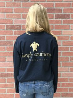Simply Southern BLACK FRIDAY Turtle Longsleeve- Navy from Chocolate Shoe Boutique