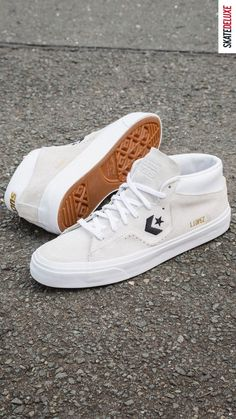 More support & stability for one of the most popular skate shoes - shop the new Louie Lopez Pro Mid by Converse CONS Skate Shoe Brands, Skate Shoes, New Skate, Shoe Releases, Converse, Vans, Shoe Shop, Nike Sb, Black And White