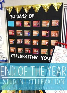 Celebrating the end of the year can be a special time for you and your students, use the end of the year countdown to celebrate their successes! #endoftheyear #endoftheyearideas #classroomideas #classroominspiration