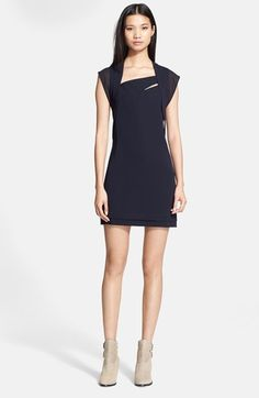 The Kooples Chiffon Trim Crepe Dress available at #Nordstrom
