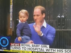 Prince George with Prince William.