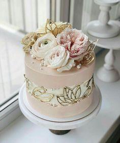 Beautiful Birthday Cakes, Gorgeous Cakes, Pretty Cakes, Cute Cakes, Amazing Cakes, Wedding Cake Designs, Wedding Cakes, Cakes For Women, Cake Decorating Techniques