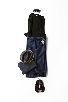 Fashion japanese fashion Kyoko Kikuchis Closet Drip drip drip…that darn leaky fa Fashion Mode, Denim Fashion, Daily Fashion, Fashion Outfits, Womens Fashion, Looks Style, Style Me, Casual Chic, How To Have Style