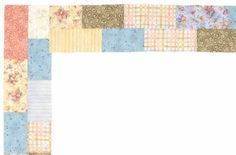 .. Bricks Quilt Border Pattern results in a charming patchwork effect