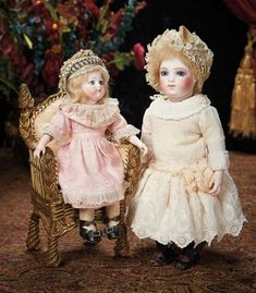 The Lifelong Collection of Berta Leon Hackney: 329 Tiny French Bisque Bebe Brevete by Leon Casimir Bru, Size 6/0