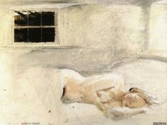 watercolours - Andrew Wyeth  American 1917-2009  The Helga Pictures