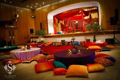 Moroccan Mehndi Decor by Scarlet Event Design sets Asian Wedding . quite beautiful for any party!