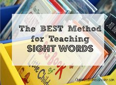 Part of the reason this method works so well is because a child correctly reads a sight word 6 times before it is put in the & pocket. Basic Sight Words, Teaching Sight Words, Sight Word Practice, Sight Word Games, Sight Word Activities, Learning Activities, Learning Letters, Educational Activities, Reading Fluency