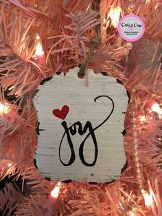 Joy Ornament by carlyandcass on Etsy