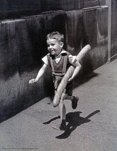 Henri Cartier-Bresson the Decisive Moment   Henri Cartier Bresson A Boy with Bread Photography Poster Print 11x14