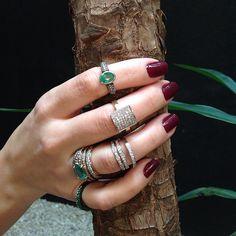 Esmeraldas e Diamantes de tirar o fôlego!!!  #esmeraldas #diamantes #marcellocampos #joias #designdejoias #jewelrydesign
