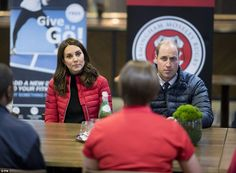 The royal couple looked deep in conversation as they spent time with the apprentices...