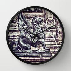 PARIS - Latin Quarter: Place St-Michel - La Fontaine St. Michel Wall Clock by Angel Torres -$30