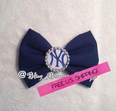 New York Yankees Bow on Etsy, $5.50