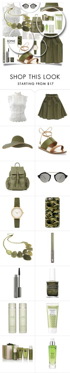"""Olive Color  ROWME SKIRT"" by naomy-nona ❤ liked on Polyvore featuring Oscar de la Renta, Keds, Steve Madden, Topshop, Illesteva, Skagen, Casetify, Emi Jewellery, Urban Decay and MAC Cosmetics"