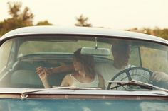 Vintage-Inspired Love Sesh with a Classic Car