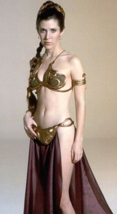 Star Wars - Carrie Fisher in Princess Leia slave outfit.