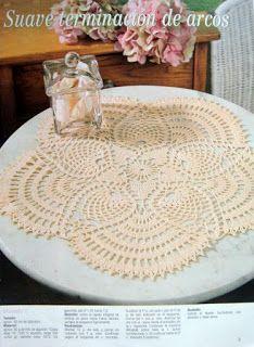 "132. Doily, crochet - Crochet pattern ""Pineapple"""