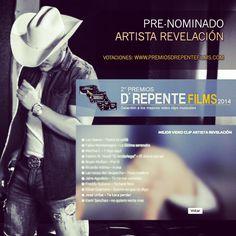 Los invito a votar por mi en la Pre-nominacion a Mejor Video Clip Artista Revelación en los Premios D'Repente Films. #premios #awards