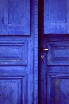cobalt blue doors