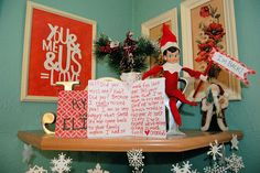 i'm back note from elf on the shelf