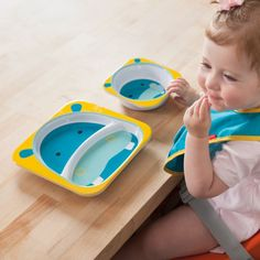 Skip Hop Zoo Melamine Dinner Set, Hippo - Click image twice for more info - See a larger selection of baby feeding sets at http://zbabyproducts.com/product-category/baby-feeding-sets/ - baby, kids, toddler, infant, child, baby gift ideas .