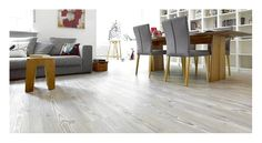 With limited budget you choose vinyl planks to decorate the parquet . Cork Flooring, Vinyl Plank Flooring, Vinyl Planks, Vct Tile, Tile Floor, Wood Floor, Types Of Flooring, White Vinyl, Dining Table