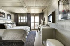 Beautiful Chalet Design with Luxury Touch: Romantic Bedroom Design Light Wood Dresser Chalet In The French Alps Romantic Bedroom Design, Modern Bedroom, Bedroom Decor, Bedroom Ideas, Cozy Bedroom, Bedroom Inspiration, Chalet Design, Chalet Style, Chalet Modern