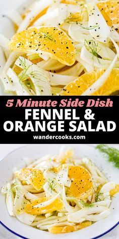 With only 4 ingredients, Italian Fennel and Orange Salad is the perfect vegan salad recipe, ready in under 5 minutes. Crisp slices of fennel, juicy orange, and a splash of olive oil make this a refreshing side dish with a natural citrus vinaigrette. Easy Summer Salads, Summer Salad Recipes, Easy Salad Recipes, Healthy Recipes, Perfect Salad Recipe, Fennel And Orange Salad, 4 Ingredient Recipes, Citrus Vinaigrette, Recipe Ready