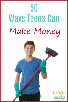 If you're looking for how to make money as a tween or teen, this list is for you. Luckily, you don't have to wait until you can secure a traditional part-time job to earn some much needed cash. There are unlimited ways that you can make your own income. Ways To Earn Money, How To Get Money, Make Money Blogging, Saving Money, Teen Entrepreneurs, Jobs For Teens, Teen Money, Homeschool High School, Homeschooling