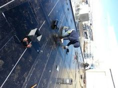Flat roof replacement with a SBS torch-on onto an industral building in Calgary. The initial assembly was a tar and gravel roof. Flat Roof Replacement, Bragg Creek, Roof Repair, Calgary