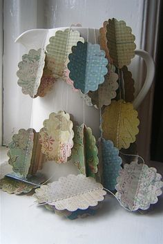 3D Paper Garland Scalloped Cameo's The Baroque