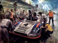 Michael Turner (b.1934) —   The Winning Porche Le Mans 1977  (1024×768)