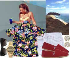 """""""Lets go to beach & just enjoy the waves. :)"""" by deathbydesigner ❤ liked on Polyvore"""