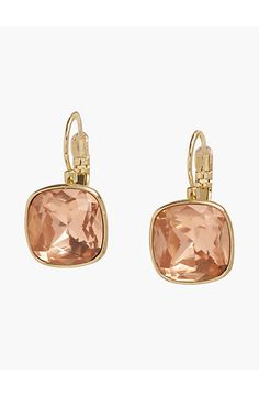 Faceted Square Earrings - Talbots