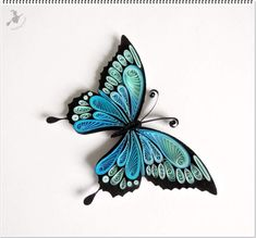 Quilled butterfly Quilled butterfly The post Qui – Quilling Ideas – Origami Neli Quilling, Quilling Butterfly, Paper Quilling Cards, Paper Quilling Flowers, Quilling Work, Paper Quilling Patterns, Origami And Quilling, Quilled Paper Art, Quilling Paper Craft