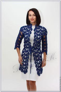 Crochet Bolero, Freeform Crochet, Crochet Cardigan, Irish Crochet, Knit Crochet, Pants Pattern, Crochet Fashion, Crochet Clothes, Cardigans For Women