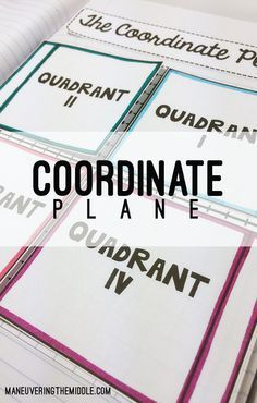 Coordinate Plane Activity Bundle - 6 engaging activities to practice graphing on the coordinate plane - interactive notebook activities, mystery pattern, and more. | maneuveringthemiddle.com