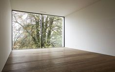 Frameless sliding window for maximum transparency, dost design gmbh 8200 Schaffhausen www.dost-design.chVilla K., Sky-Frame Fenster