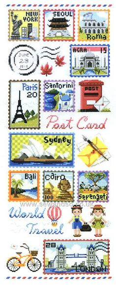 Buy The World's Postage Stamps Chart Booklet Online at www.sewandso.co.uk