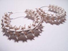 Bone Earrings - Snake Vertebrae Earrings - Bone Jewelry