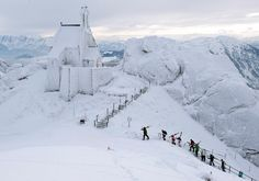 = News In Pictures – Extreme cold weather hits Europe Skiers approach Wendelstein near church Bayrischzell, Germany on January (Lukas Barth/dapd/Associated Press) Places Around The World, Around The Worlds, Big Freeze, Place Of Worship, Cool Photos, Amazing Photos, Amazing Places, Cold Weather, Places To Go