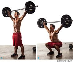 Meet The Squats: 7 Squat Variations You Should Be Doing - OVERHEAD SQUAT - Bodybuilding.com