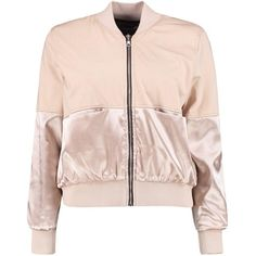 Petite Nancy Satin Panel Bomber Jacket ($35) ❤ liked on Polyvore featuring outerwear, jackets, blouson jacket, bomber style jacket, pink jacket, pink bomber jacket and petite jackets