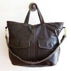 recycled leather bag by remade usa