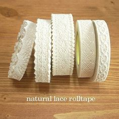 This lace tape would be so great in craft projects...so beautiful!
