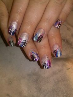 Shellac with traditional nail art