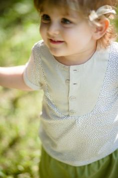 great combination of fabrics for kids: silk+ cotton #kidsfashion